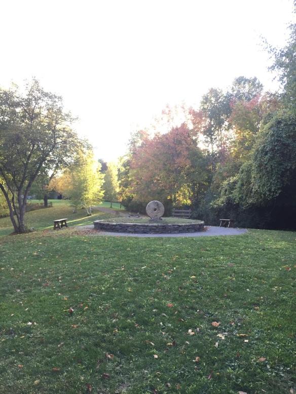 Roshi Philip Kapleau's millstone grave marker